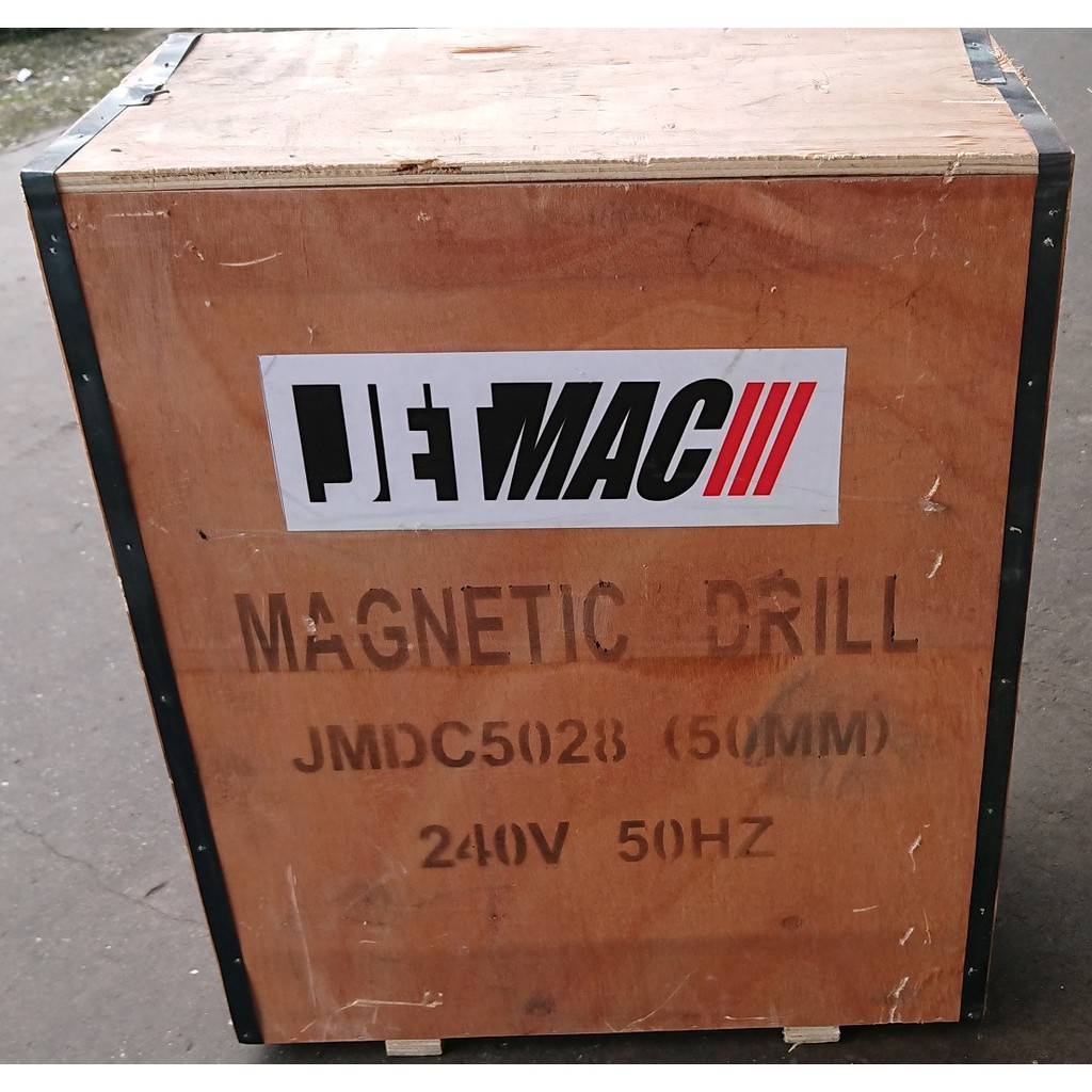 jetmac magnetic magnet drill drilling metal plate hole press cutter machine