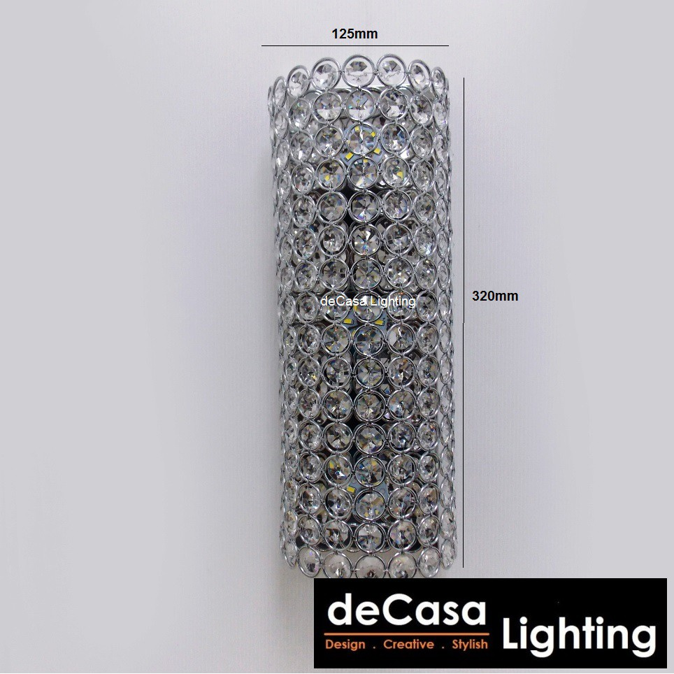 Led Modern Crystal Wall Lamp Sconce Light LED Bulb Bedroom Hallway Lighting Decasa Wall Light Lampu Hiasan (20185)