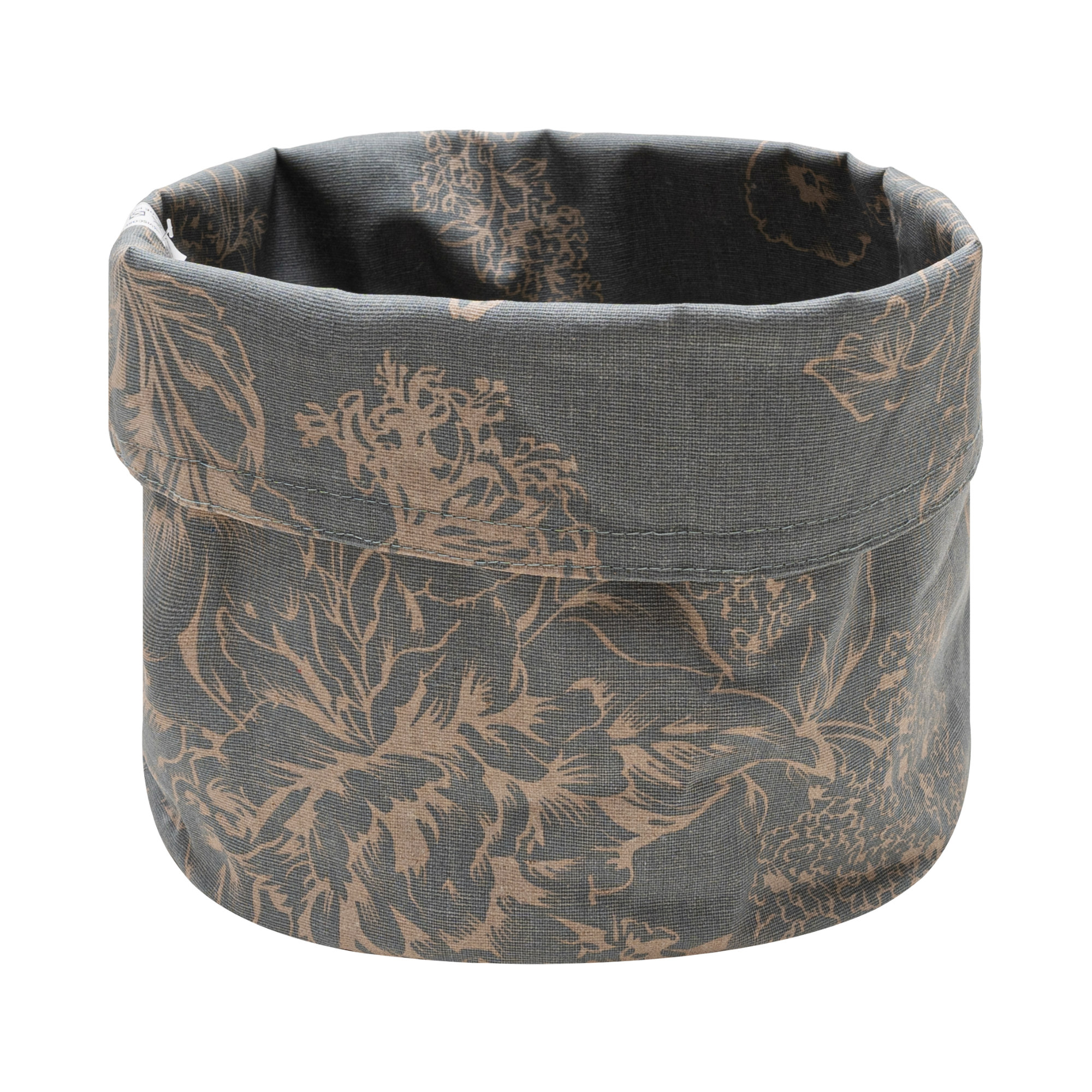 Blossom or Seed Coated Fabric Bread Basket/Fabric Storage Basket. Anti-Stain/Waterproof/Spill Proof. Multisize & Design