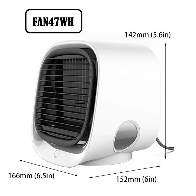 [ READY STOCK ]  Portable Mini Air Conditioner Multi Function Humidifier Purifier USB Cooler Fan Water Tank Kipas Angin