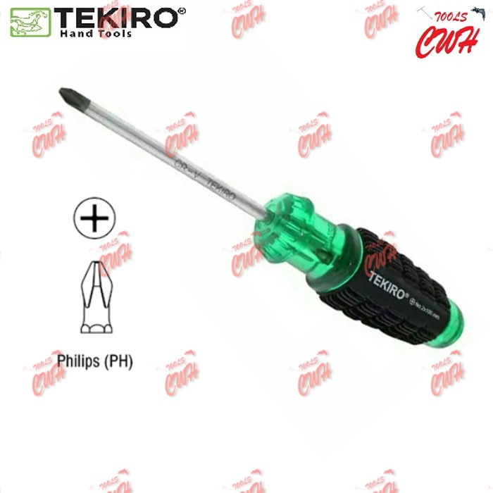TEKIRO CUSHION GRIP SCREWDRIVER (MADE IN TAIWAN) PHILLIPS (+) SLOTTED (-) MAGNETIC SCREWDRIVER STANLEY BLACK & DECKER