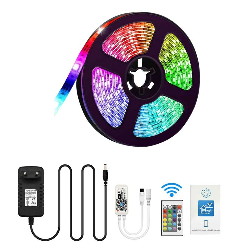 16.4Ft 5050 Flexible Smart WiFi RGB IP65 150LED Light Strip for Alexa Amazon Goo