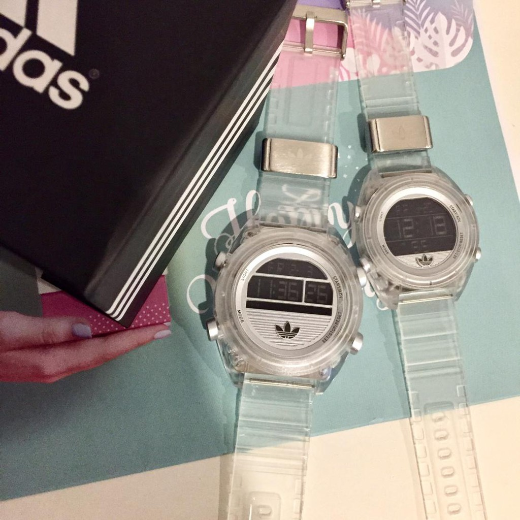 carne seré fuerte dosis  ADIDAS TRANSPARENT COUPLE SET WATCHES SPORTS SET ZA 16052019 007 | Shopee  Malaysia