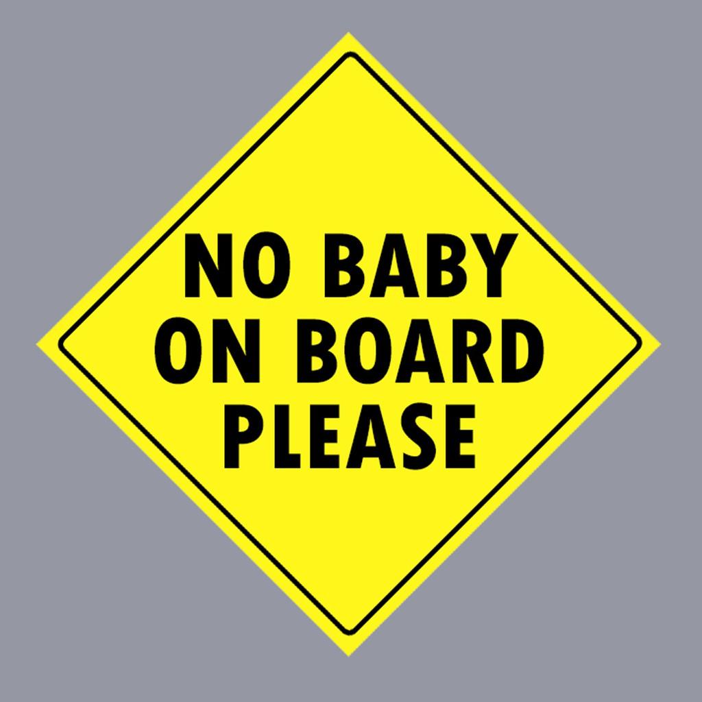 car sticker or bumper sticker funny no baby on board shopee malaysia