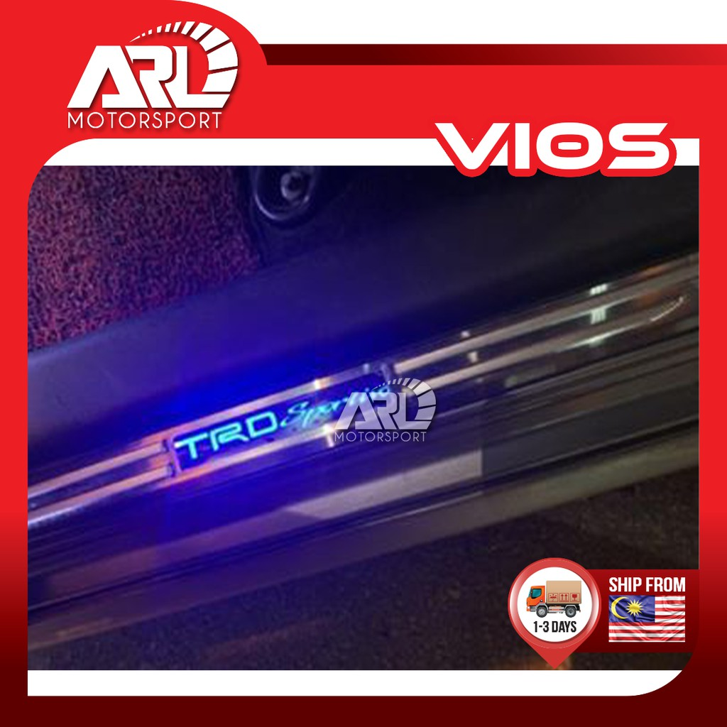 Toyota Vios (2007-2012) NCP93 TRD Sportivo LED Door Step Protector Scuff Plate Car Auto Acccessories ARL Motorsport
