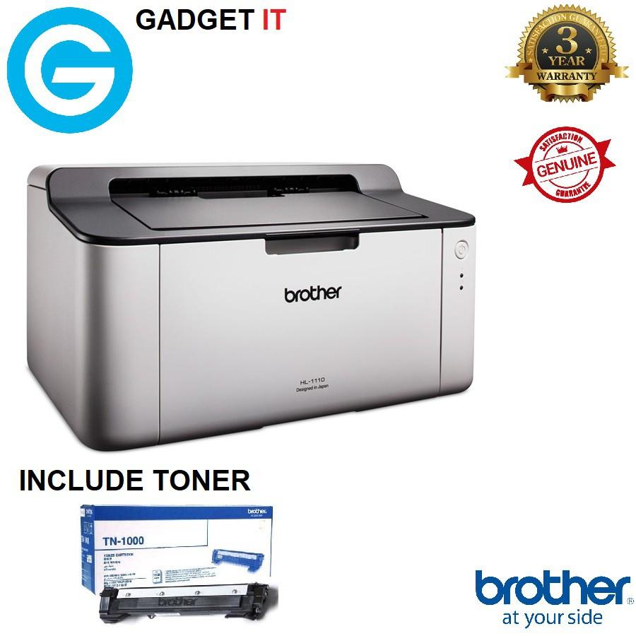 Brother HL-1110 Monochrome Laser Printer (Price incl  1 Original TN-1000  toner)