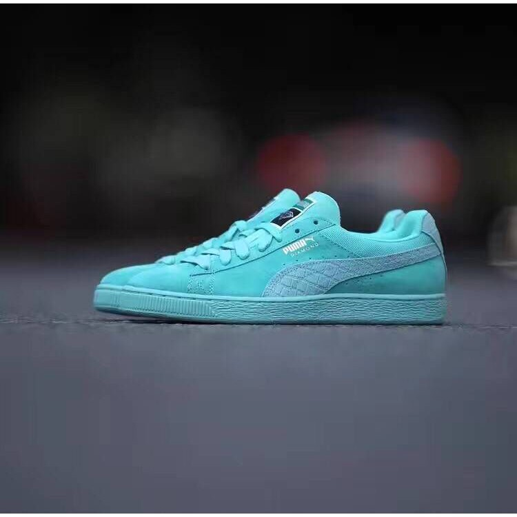 half off fbe1e b5bd1 Hot Sale Diamond x Puma Suede Sports Shoes Fashion Casual Shoes All Mint  Green