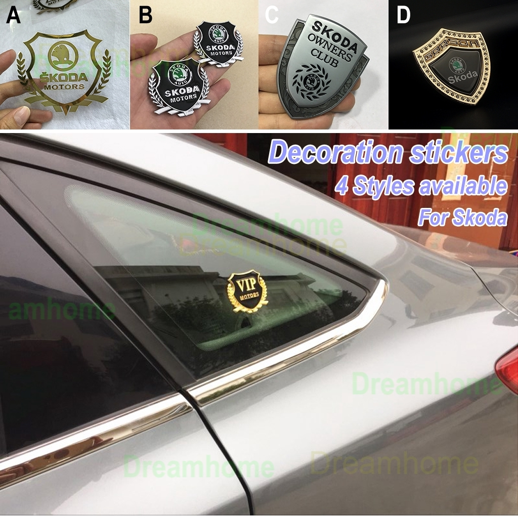 Multi Style Fashion Personality Skoda Badge Car Sticker Decal Car Styling Decoration Shopee Malaysia