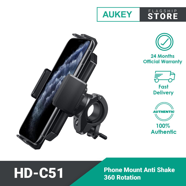 Aukey HD-C51 Shake 360 Rotation Bicycle Motorcycle Motor Phone Mount