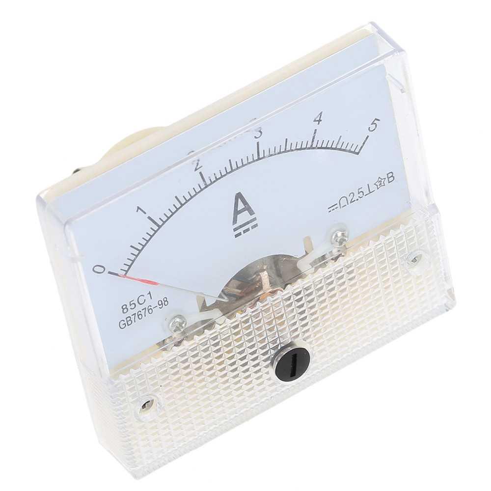DC0-5A Analog Current Panel Meter Tester Ammeter Gauge