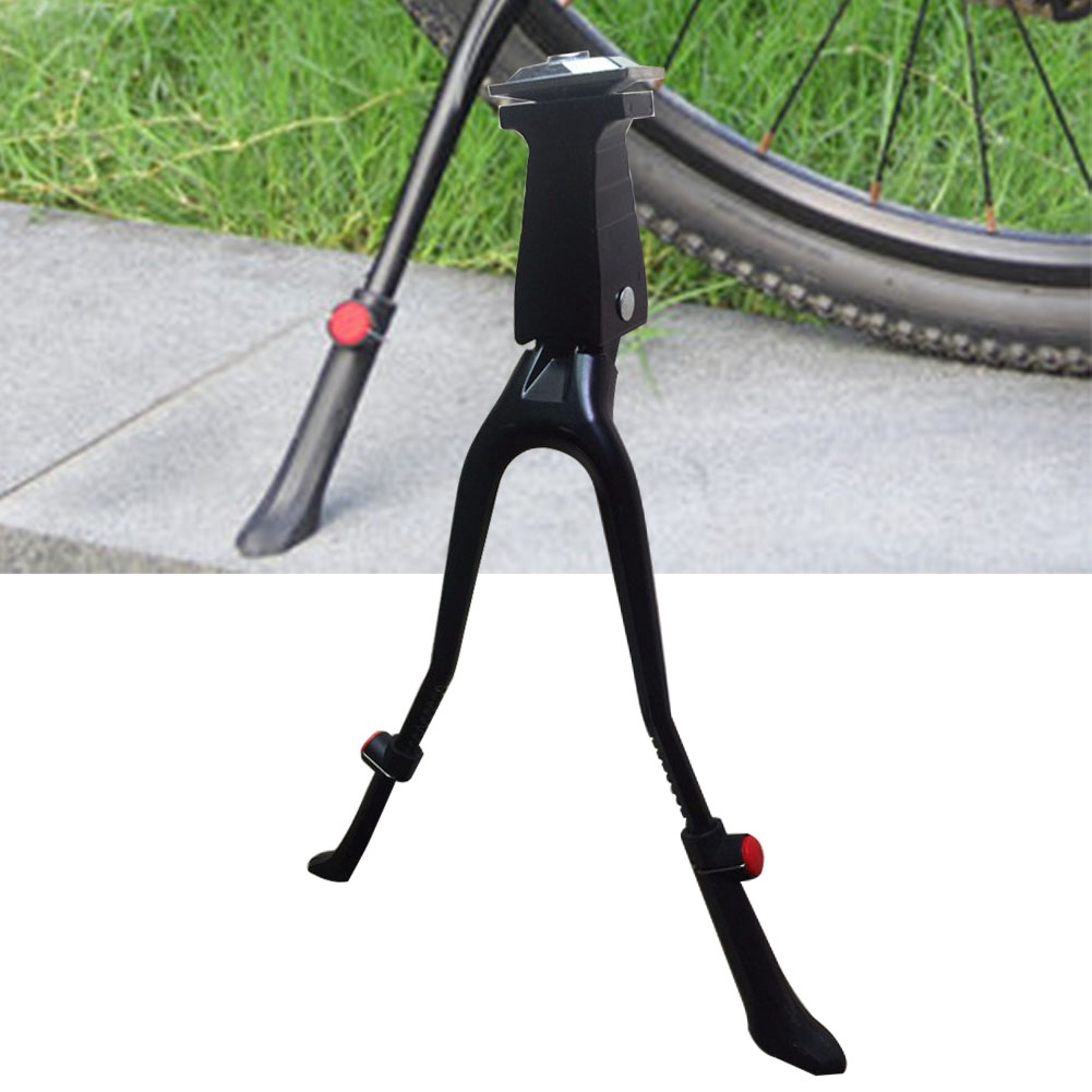 Iron Double Leg Mount Stand Bike Bicycle Kick Stand Parking Kickstand Durable