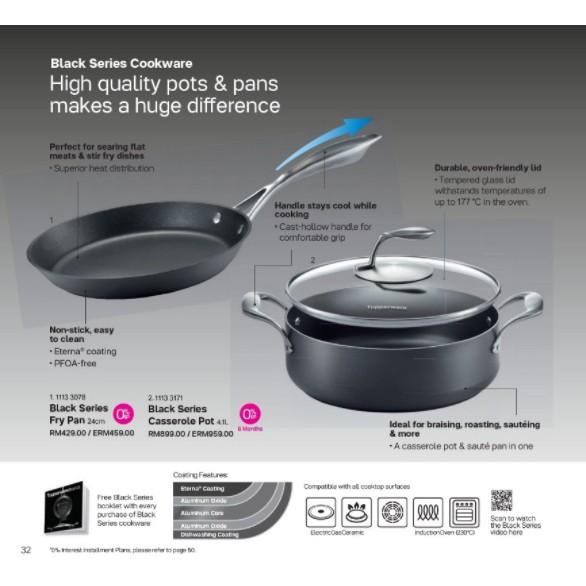 Tupperware Black Series Fry Pan & Casserole Pot
