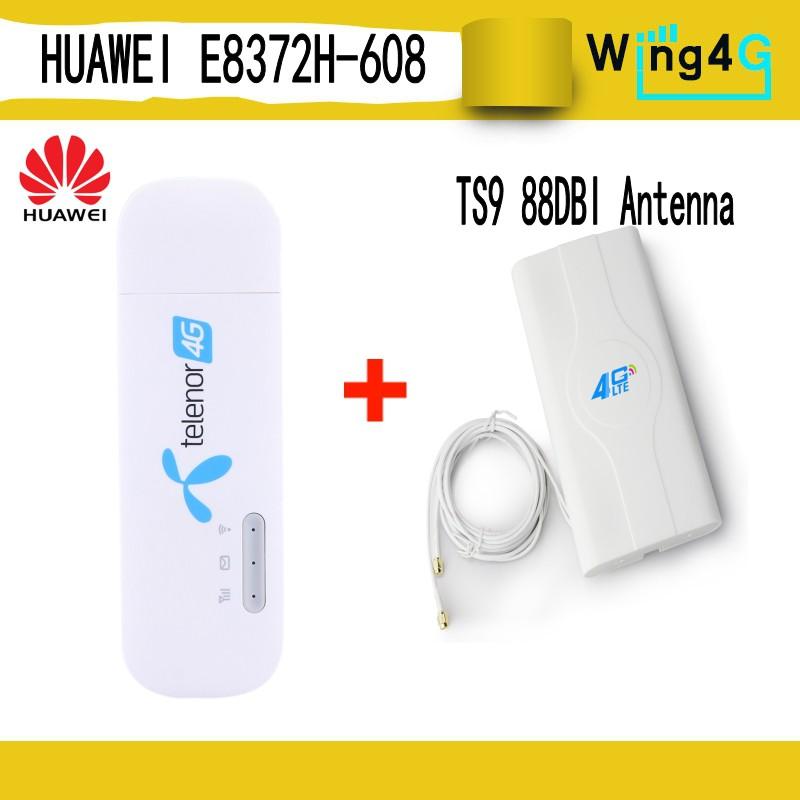 Huawei E8372H-608 + 4G 88DBI antenna 4G usb wifi modem 4g usb mifi stick