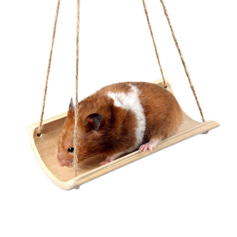 Small Animal Bamboo Bed Summer Cool Hangable Hamster