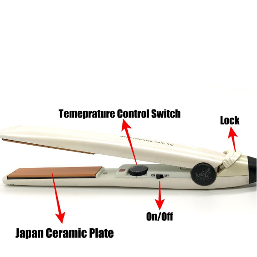 NEKPro Professional Ceramic Hair Straightener Japan Ceramic Plate