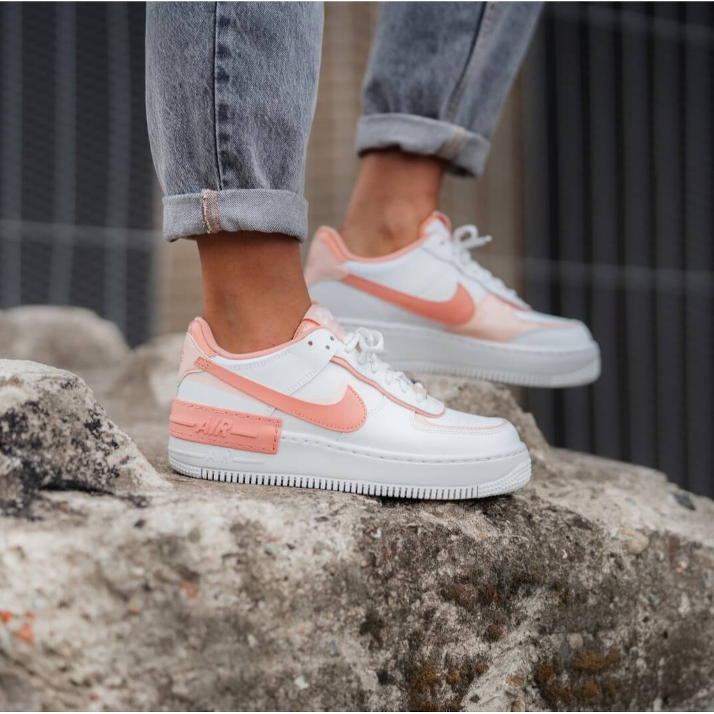 Nike Women S Air Force 1 Shadow Summit White Washed Coral Summit White Pink Quartz Shopee Malaysia Nike air force 1 af1 w shadow quartz pink blush peach uk 2 3 4 5 6 7 8 9 us new. nike women s air force 1 shadow summit white washed coral summit white pink quartz