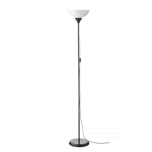 IKEA Not Tall Floor Standing Lamp Light Uplighter Black