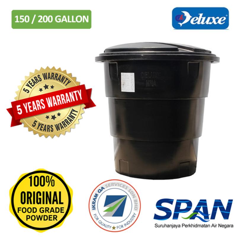 Deluxe Polyethylene PeTank Round Type Water Tank Slim&Tall (70/100-300/400)Gallon Tangki Air Polietilena Warranty 5 Year