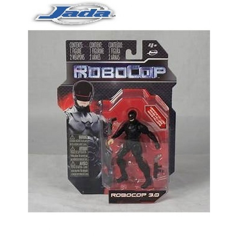 JADA 4 inch ROBOCOP BLACK 3.0 ACTION FIGURE WITH TWO WEAPON MODEL COLLECTION 84125