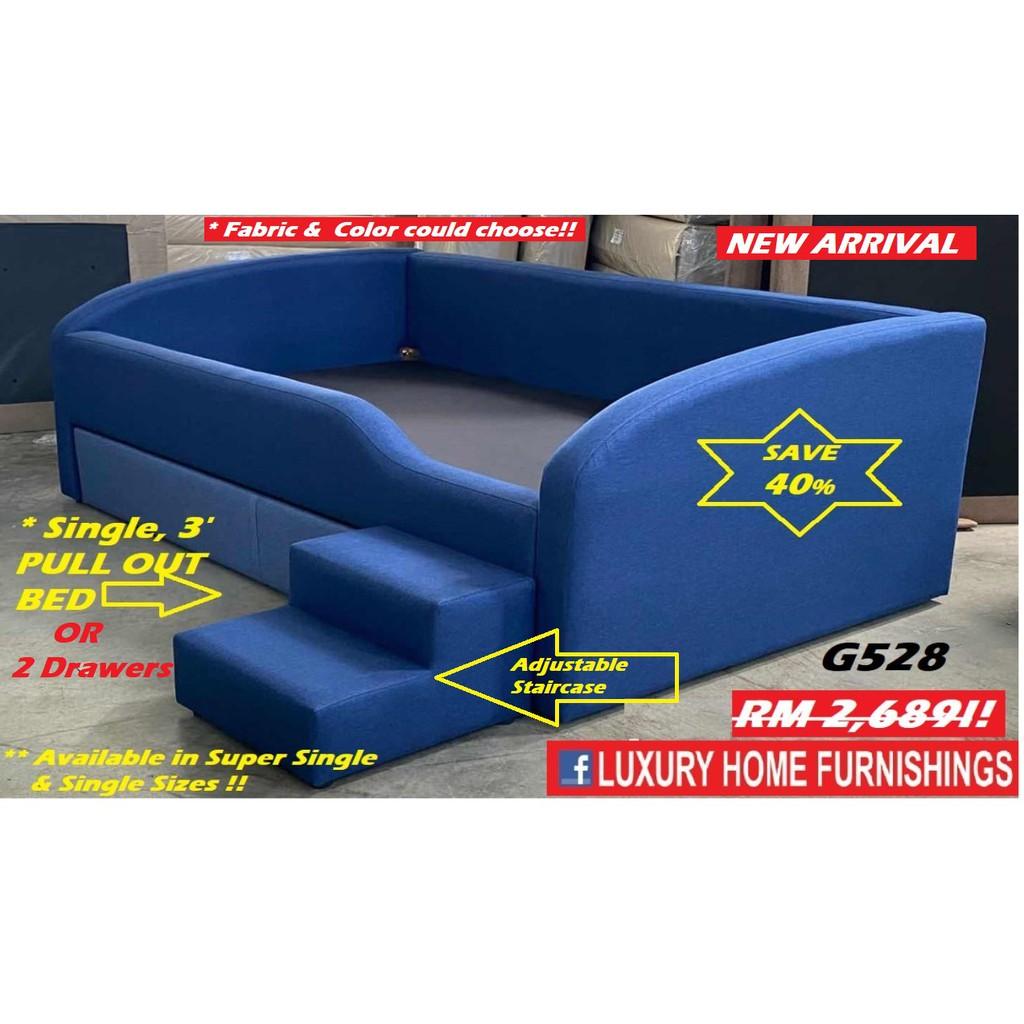 CAPTAIN, Designer Series MULTI  Divan Set, Water Repellent Fabric!! MATERIAL/ COLOR COULD CHOOSE. RM 2,689!! Save 40%!!