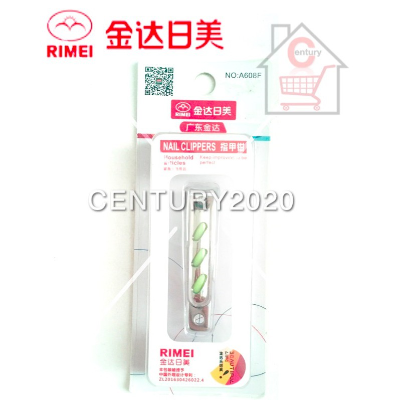 RIMEI Nail Clipper Manicure Care Nail Cutter High Grade Stainless Steel Nail Cutter A608-1