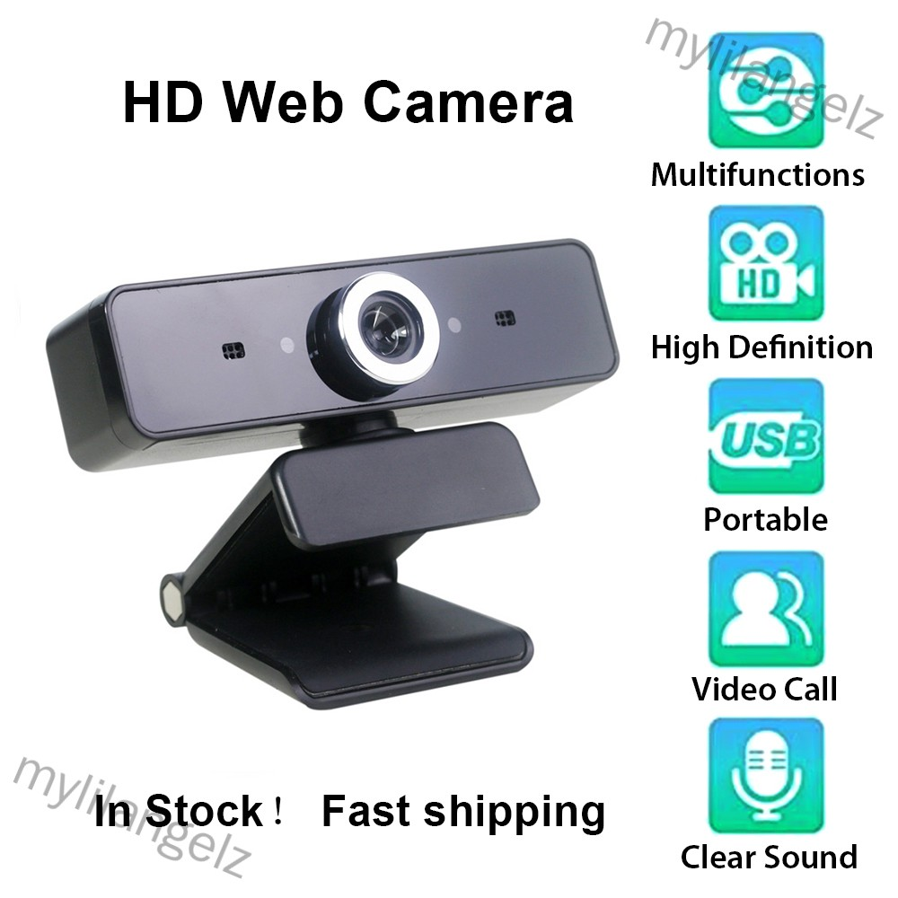 Mylilangelz Webcam HD Web Camera Video Chat Recording Camera USB with HD Mic Microphone For PC Computer (READY STOCK)