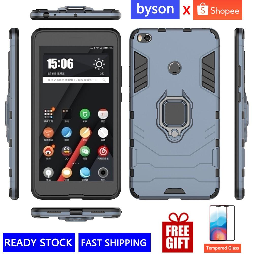 quality design 91952 3bc02 Xiaomi Max 2 3 Mix2 2s MI8 SE Redmi Hard TPU 360° Anti-fall Mi Phone Case  Cover