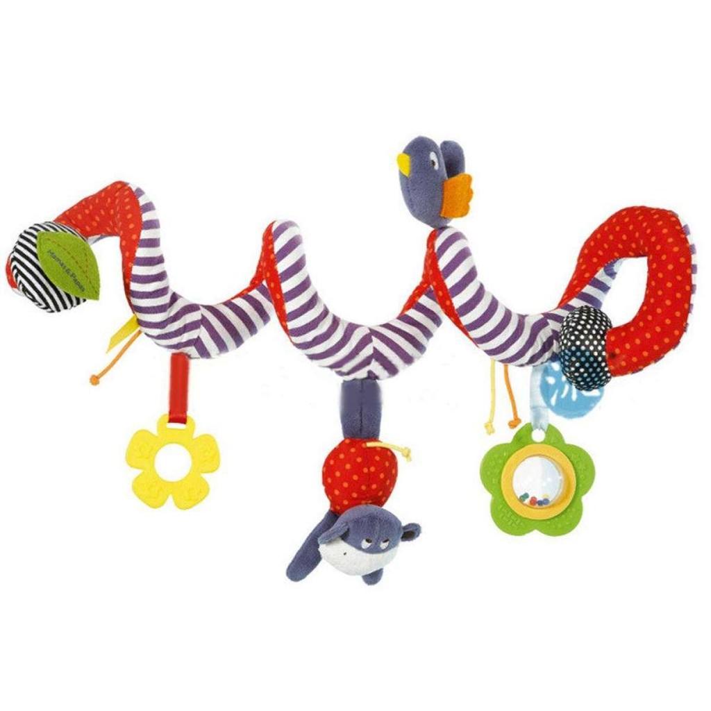 Baby Pushchair Crib Cot Pram Hanging Rattles Spiral Stroller Car Seat Toy FA