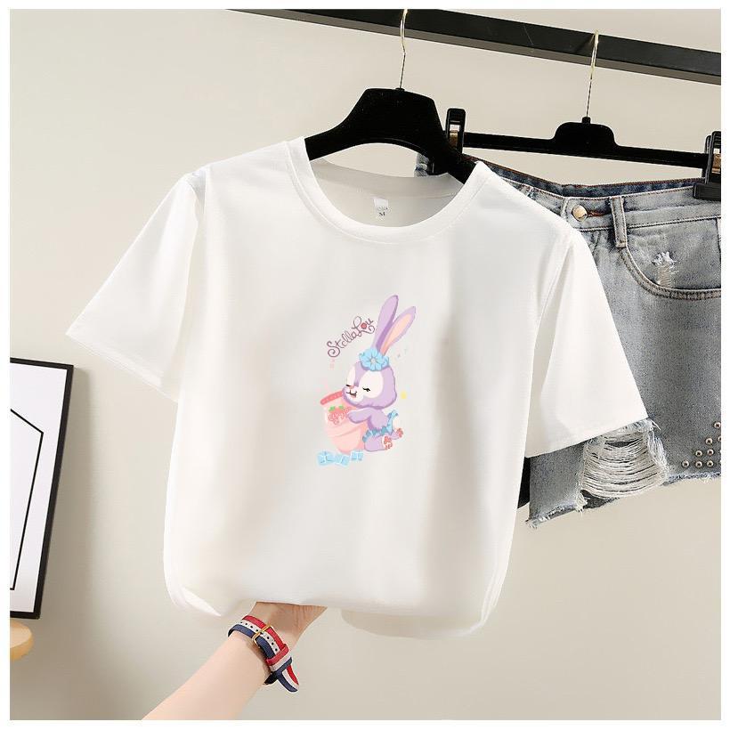 T Shirt Ladies Disney Cotton T Shirt 韩版宽松版M L SIZE 少女T-恤 T0002
