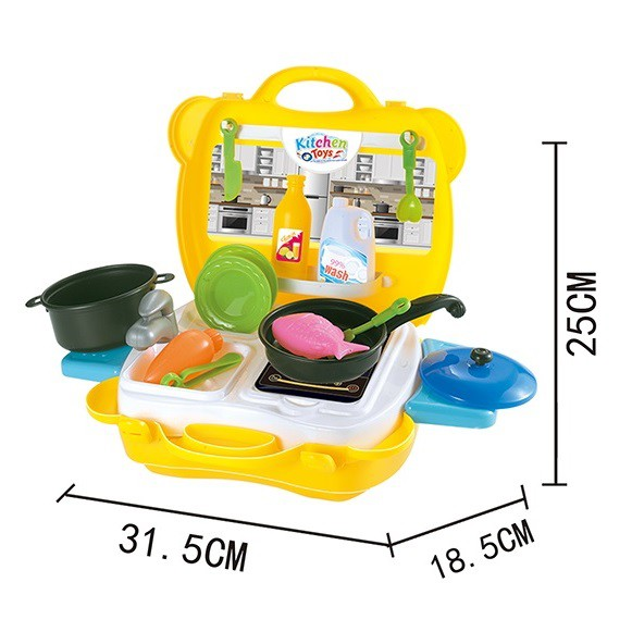 CHILDREN PORTABLE 2 IN 1 BAG TO CAR KITCHEN PLAYSET VAN FUN TOY CAR PLAYSET FOR GIRL AND BOYS