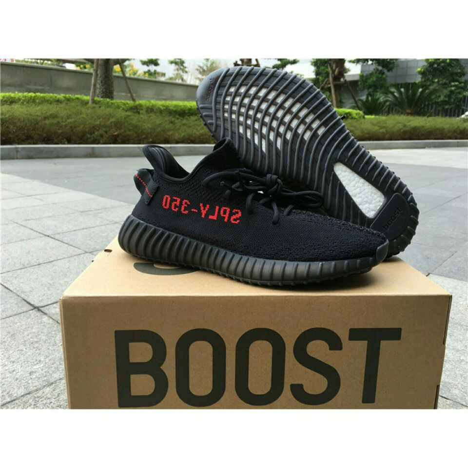 outlet store c40c3 250f9 Adidas Yeezy Boost 350 V2 Core Black Red