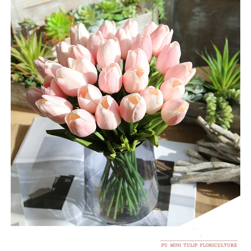20PCS Artificial Silk Fake Real Touch Rose Flower Stem for Wedding Party