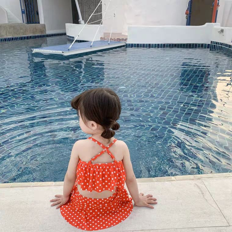 WUAI Baby Float Swimsuits Cute Toddlers Float Suit with Adjustable Buoyancy One Piece Swimwear for Boys and Girls