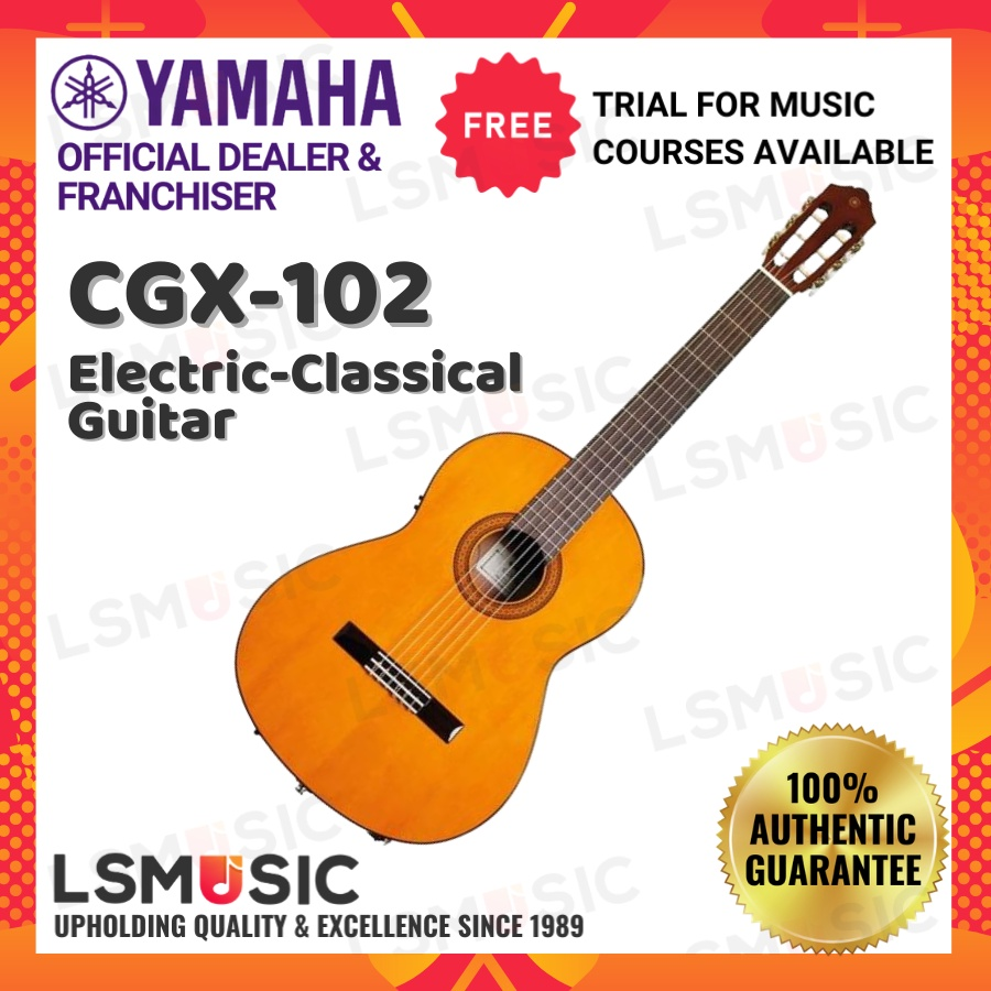 YAMAHA CGX-102 Spruce Top Full Size Electric-Classical Guitar with Pickup - Gloss (CGX102)