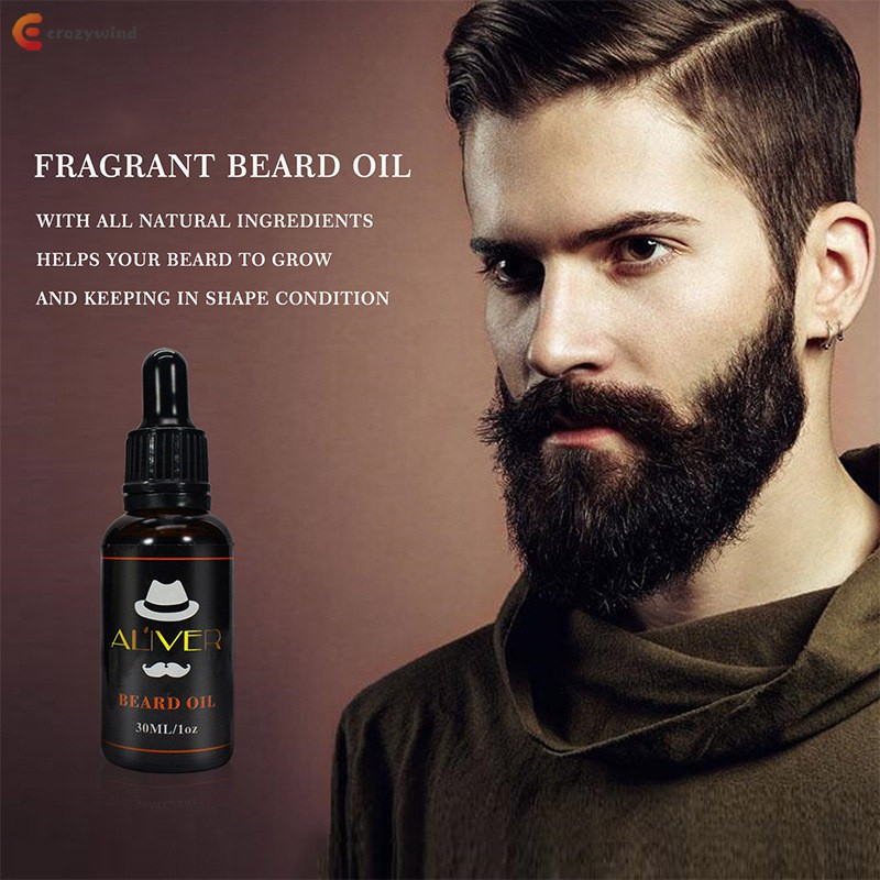 Men Beard Oil Moisturizing Soften Mustache Oil Enhancer