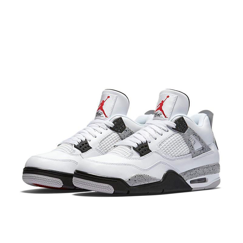 6a192ccdcd41 Official Original Nike Air Jordan 4 OG AJ4 White Cement Men s Basketball  Shoes