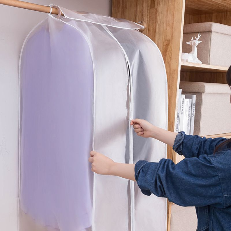 Clothes Hanging Bag Dust Cover Garment Suit Wardrobe Dustproof Organizer Storage