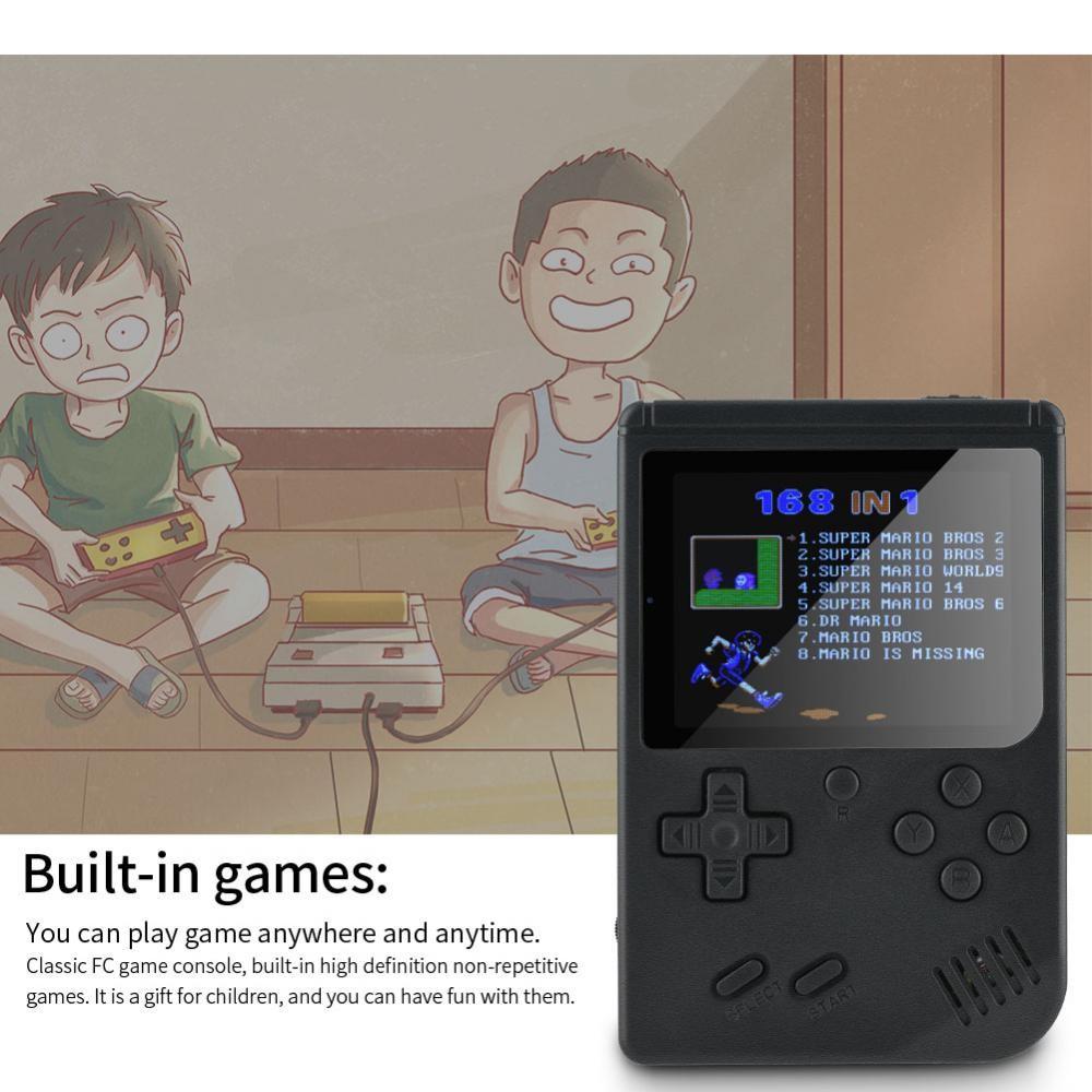 Mini Retro Portable Handheld Reminiscence Game Console Built-in 168 Games  8-Bit
