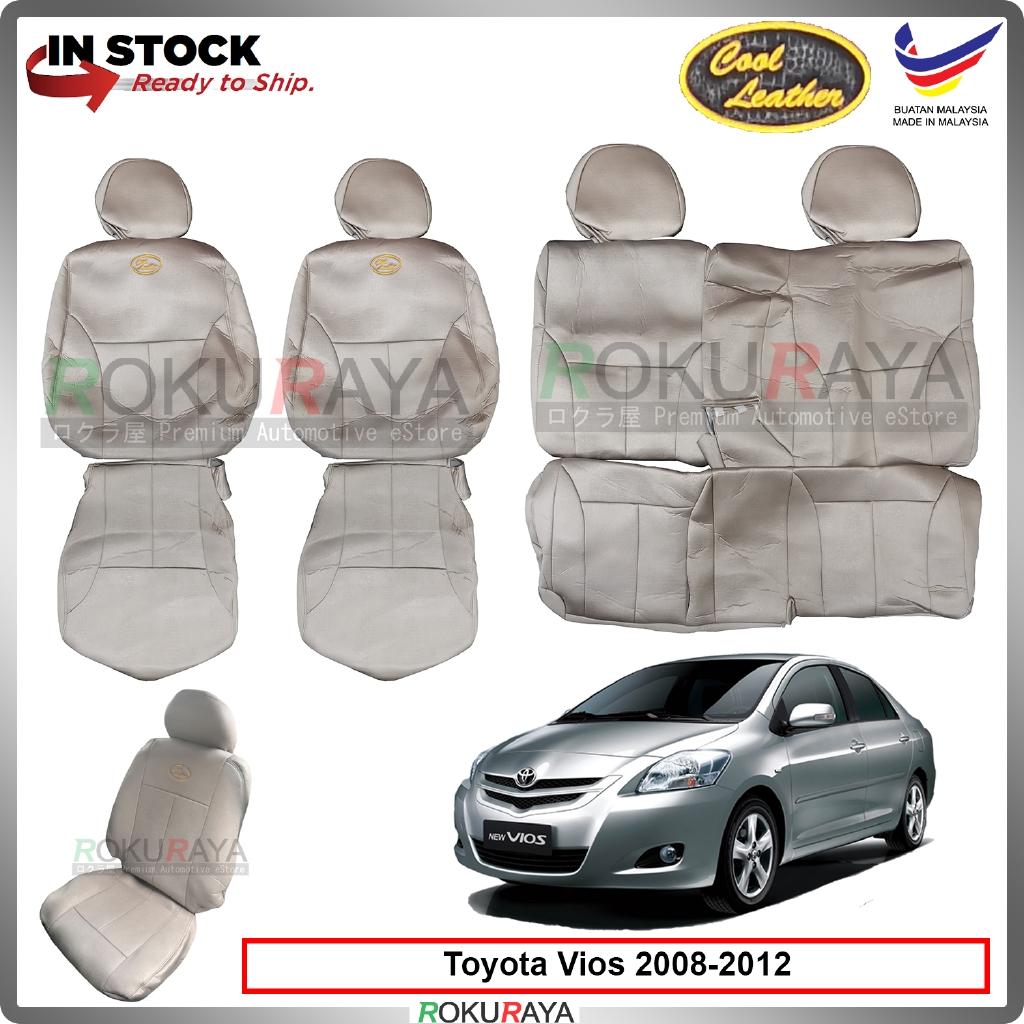Toyota Vios 2008-2012 (E,G,S) Cool Leather Coolmax Custom Fitting Cushion Cover Car Seat (Biege)