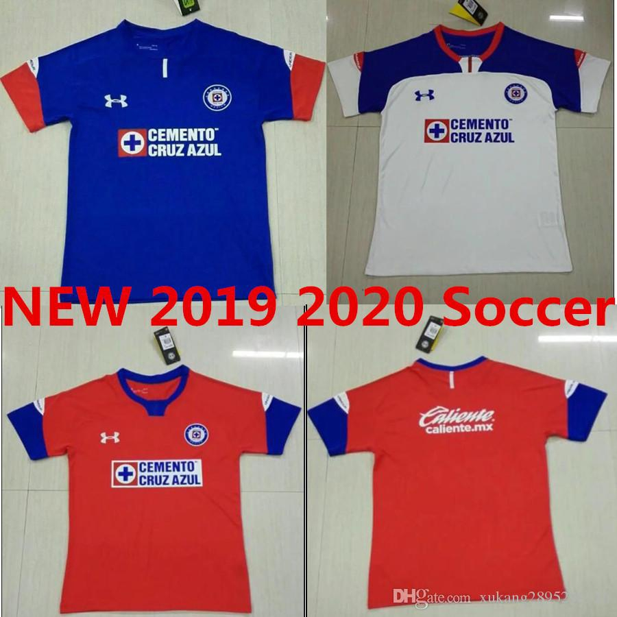 fde88983c60 Thailand Quality New 2019 2020 Mexico Club Cruz Azul Liga MX Soccer Jerseys