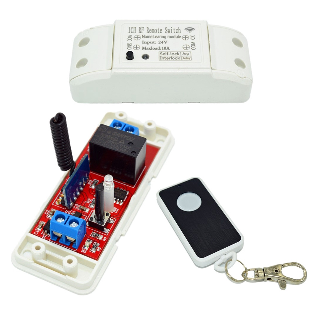 Wireless RF Relay Remote Control Switch 1-Channel 433Mhz Receiver Time Delay