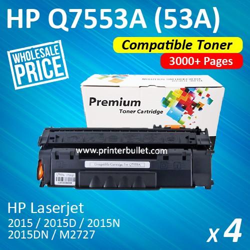 4 unit HP Q7553A / 53A / 7553 High Quality Compatible Toner Cartridge