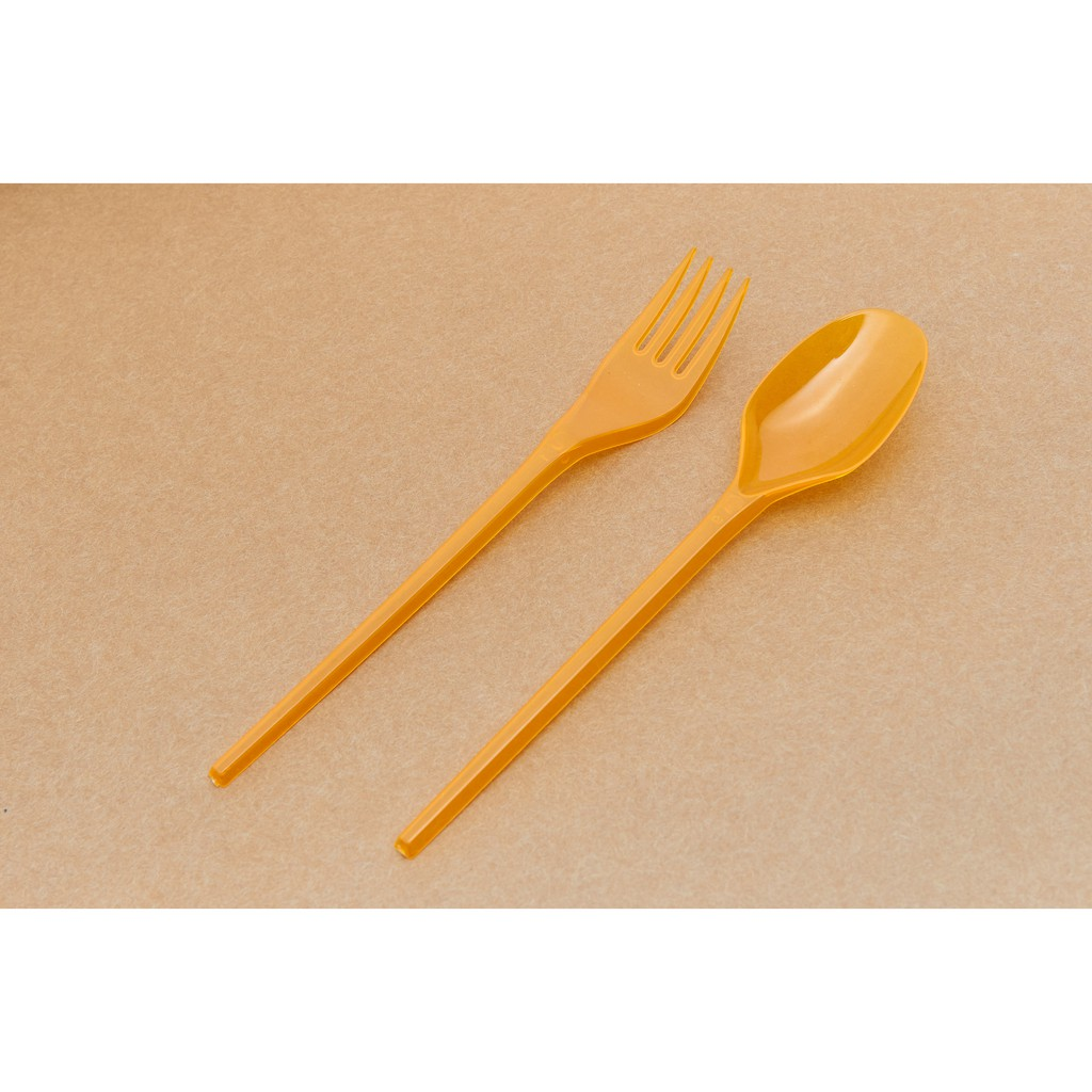 [ 50 pcs / pack ] Ecohouse Party Fork and Spoon