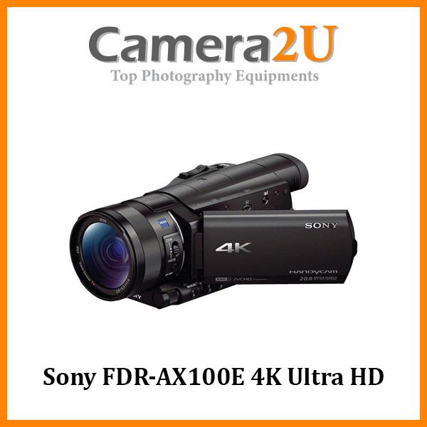 Sony FDR-AX100E 4K Ultra HD Camcorder +64GB (Sony MSIA)