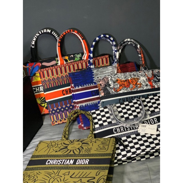 62e07b4bdc BLACK PLAIN Dior Book Tote Dior Oblique bags - DIOR TOTE BOOK TOTE TOILE DE  JOUY BAG