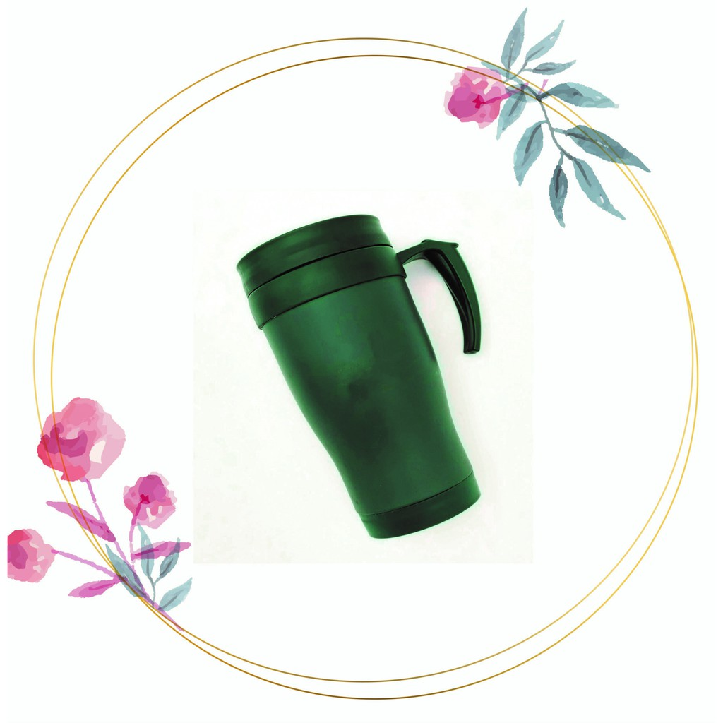 [READY STOCK] Travel Mug with Handle/Keeps Warm Up to 3 Hours