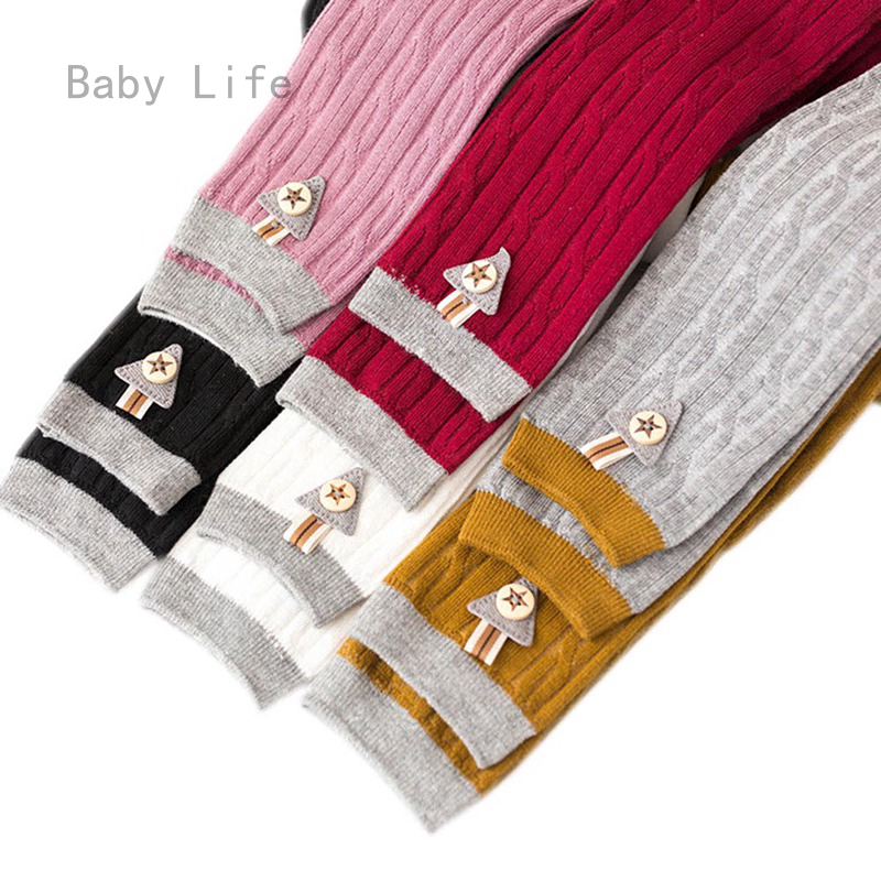 Baby Life New Kids Girls Cotton Knitted Fabric Baby Leggings Children Fashion Candy Color Pantyhose For 0 4 Years Shopee Malaysia