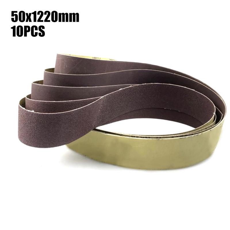 Good 10pcs Abrasive Tools Sanding Belt Sandpaper Disc Sandpaper Grinding Wheel Abrasive Belt For Air Belt Sander Rotary Tool Abrasive Tools