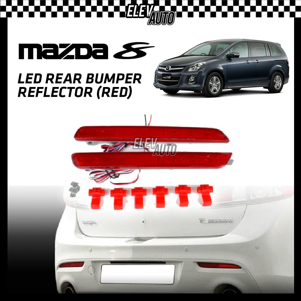 SAXO LED Rear Bumper Reflector (Red) Mazda 8