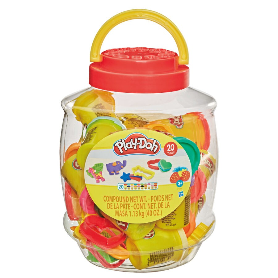 Play-Doh Compound Storage Bucket with 20 cans of Play-Doh Compound